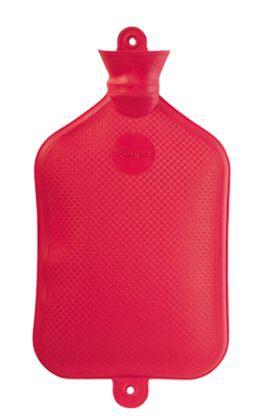 Gummi-Wärmflasche, 3,0 Liter, rot