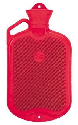 Gummi-Wärmflasche mit Griff, 2,0 Liter
