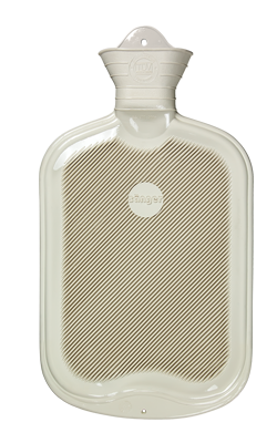 Gummi-Wärmflaschen, 0,8 Liter, weiß