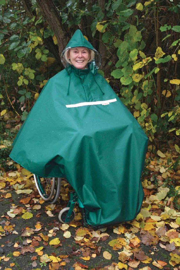 Wetterschutz für Rollstuhlfahrer