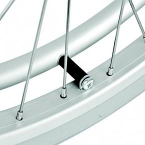 24 Zoll Rollstuhlrad mit Greifring, silber,Reifen 24 x 1 3/8 Zoll