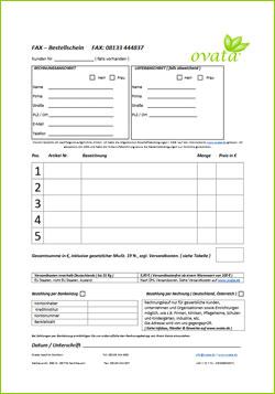FAX – Bestellschein | Ovata Alltagshilfen und Hilfsmittel